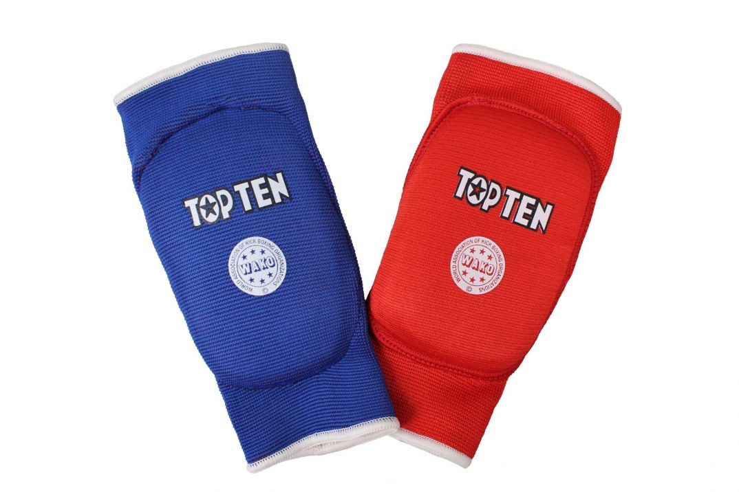 Medium TopTen WAKO Competition Approved Shin and Instep Guards Blue